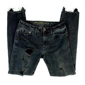 American Eagle Distressed Extreme Flex Slim Jeans